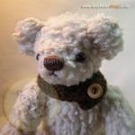 ตุ๊กตาหมีผ้าขนแกะสีน้ำตาลขนาด 20 cm. - Poppy