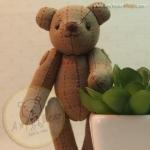 ตุ๊กตาหมีผ้าทอญี่ปุ่นขนาด 10 cm. - Muffin