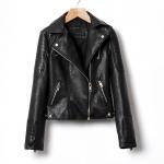 [Preorder] แจ๊กเก็ตหนังแฟชั่นแขนยาว แบรนด์ ZARA สีดำ (ไซส์ S M L XL) Zara autumn 2014 European style motorcycle zipper stitching Slim washed leather jacket female pearl