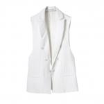 [Preorder] เสื้อกั๊กสูทแฟชั่นสไตล์ยุโรป สีขาว แบรนด์ ZARA (ไซส์ S M L) ZARA MICN2013 new counter female models with double-breasted vest vest vest waistcoat