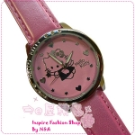 นาฬิกาข้อมือ Hello Kitty สีชมพู Hello Kitty watches pink fashion Hello Kitty watch boxed