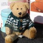 หมีขนสั้นสีน้ำตาล ขนาด 22 ซม.