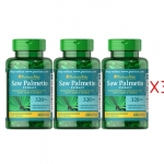 Pro x3 Puritan's Pride - Saw Palmetto Extract 320 mg 60 Softgels
