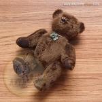 ตุ๊กตาหมีผ้าขนสีน้ำตาลเข้มขนาด 15 cm. - Sam