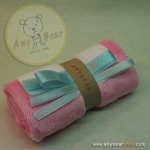 เซตผ้าขนEFสำหรับเย็บตุ๊กตาหมี - สีชมพู