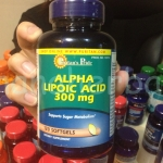 Puritan's Pride Alpha Lipoic Acid 300 mg. 120 Softgel