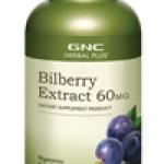 จีเอ็นซี สารสกัดจากบิลเบอร์รี่ 60 มก. 100 Vegetarian Capsules Code: 196912 เลขทะเบียน อย. 10-3-02940-1-0189