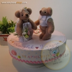 กล่องดนตรีตุ๊กตาหมีคู่แต่งงาน