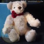 ตุ๊กตาหมีผ้าขนกุหลาบสีครีมขนาด 23 cm. - Sue
