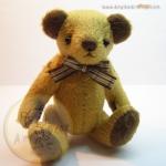ตุ๊กตาหมีผ้าขน caramel ขนาด 14 cm. - Herbie