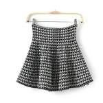 [Preorder] กระโปรงสั้นแฟชั่นสไตล์วินเทจ ลาย Houndstooth 2014 Hitz export trade of the original single-Wei Huo Dongdaemun single tail skirts high waist skirt A word skirt woman