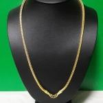 สร้อยคอทองลายกระดูกงูสี่เสาทำจากเหรียญ25,50ส.ต(ใส่พระได้ 1 องค์)ค่ะ