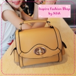 [Preorder] กระเป๋าแฟชั่น Retro ใบเล็กสีกากี the Mahogany Shop bags 2012 new tide handbags Korean retro little shoulder bag Messenger bag