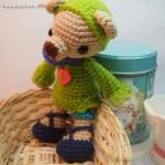ตุ๊กตาหมีถักขนาด 15.5 cm. - PiPo smile