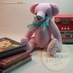 ตุ๊กตาหมีผ้าฝ้ายสีชมพูขนาด 17 cm. - Bobble
