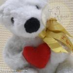หมีขาว I love you สูง 34 ซม.