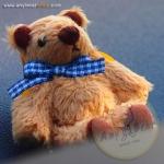 ตุ๊กตาหมีผ้าขนสีน้ำตาลขนาด 6.5 cm. - BeanBear