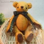 ตุ๊กตาหมีผ้าขนสั้นสีทองขนาด 13 cm. - Cracker