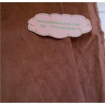 ผ้าลูกฟูกสีน้ำตาลโอวัลติน ลอนเล็ก ขนาดลอน2 มิลลิเมตรหาจากในไทยค่ะแบ่งขายขั้นต่ำ1/4m (50x55cm)