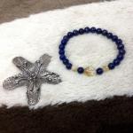 พร้อมส่งค่ะ สร้อยหินLapis Lazuli และ Citrine