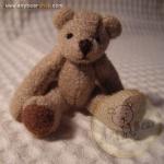ตุ๊กตาหมีผ้าขูดขนสีน้ำตาลขนาด 5 cm. - BB bear