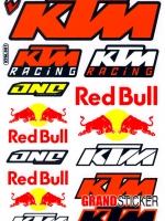 สติ๊กเกอร์รวม Logo KTM 001