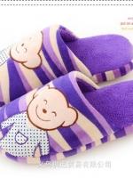 พร้อมส่ง รองเท้าแตะน้องหมีน่ารัก สีม่วง