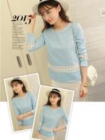 เสื้อสีฟ้าสไตล์เกาหลี