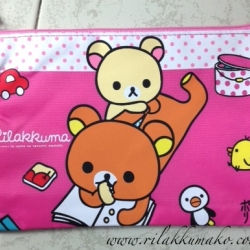 กระเป๋าดินสอ หมี ริลัคคุมะ Rilakkuma ขนาด 8.5x6นิ้ว