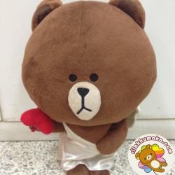 ตุ๊กตาไลน์ หมีบราวน์ Brown ขนาด 40cm คิวปิด