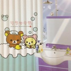 ม่านพลาสติก เหมาะสำหรับใช้ในห้องน้ำ ลาย Rilakkuma