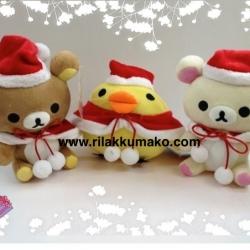 เซ็ตคริสมาสต์ ตุ๊กตา Rilakkuma (ริลัคคุมะ) Korilakkuma (โคะริลัคคุมะ) และ Kiioritori (โทริ ลูกเจี๊ยบ) [529บาท ได้ทั้ง3ตัว]