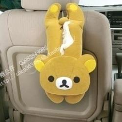 ที่ใส่ทิชชู่ในรถ ลายRilakkuma ริลัคคุมะ หมีน้ำตาล ขนาดมาตรฐาน