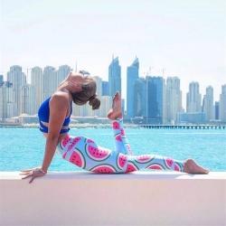 กางเกงลายแตงโม leggings สำหรับออกกำลังกาย โยคะ พิลาทิส ฯลฯ