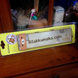 กระจกมองหลัง ในรถ ลายหมี ริลัคคุมะ Rilakkuma ใช้ครอบกับกระจกหลังเดิมได้เลยค่ะ ขนาดกระจก 26x6.5cm