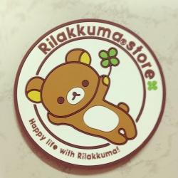 ที่รองแก้วน้ำ ลาย Rilakkuma ริลัคคุมะ หมีขี้เกียจ