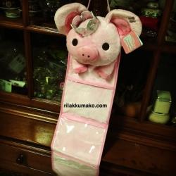 ที่แขวนใส่ของอเนกประสงค์ ลาย หมูน้อยชมพู Piggy Girl