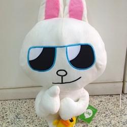 ตุ๊กตาไลน์ กระต่ายโคนี่ ใส่แว่น เท่เลย Cony ขนาด 40cm