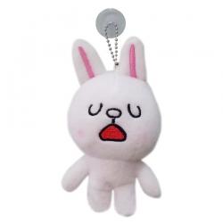 พวงกุญแจ ตุ๊กตาไลน์ Line App ขนาด 12cm Cony กระต่าย โคนี่ ยิ้มกว้าง #5
