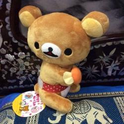 ตุ๊กตาหมี ริลัคคุมะ ถือลูกอม san-x ขนาด 8 นิ้ว