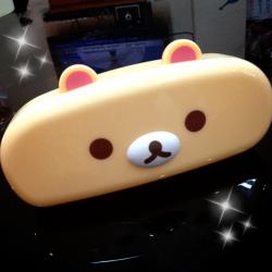 กล่องแว่น Korilakkuma หมีสีครีม