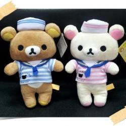 ตุ๊กตา เซ็ตคู่ ลาย Rilakkuma (หมีน้ำตาล) และ Korilakkuma (หมีสีครีม) ขายเป็นคู่ ขนาด9นิ้ว กะลาสี