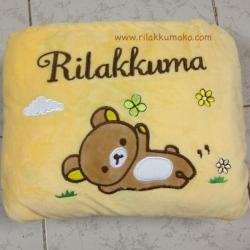 หมอนผ้าห่ม Rilakkuma ริลัคคุมะ เนื้อผ้าขนหนู นุ่มสุดๆ เนื้อผ้าดีมาก ขนาด 3x5ฟุต