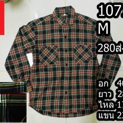 เสื้อเชิ้ตผู้ชาย เสื้อเชิ้ตลายสก็อต Size M (No.1071)