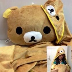 หมอนอิง ริลัคคุมะ Rilakkuma พร้อมผ้าห่มลาย หมี ริลัคคุมะ Rilakkuma