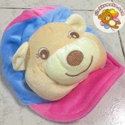 หมวกเด็ก ลายหมี เหมาะสำหรับเด็กอายุ3เดือน-1ขวบครึ่ง ด้านหลังเป็นยางยืด