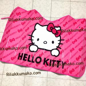 ที่บังแดดในรถ ลาย Hello Kitty คิตตี้ ขนาด 130x70cm #2