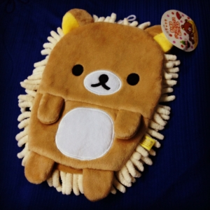 ไมโครไฟเบอร์ สอดมือได้ ลายหมีขี้เกียจ Rilakkuma ริแลคคุมะ
