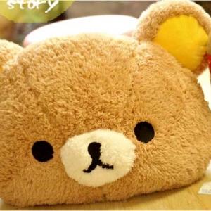 หมอนอิง หมี Rilakkuma ริลัคคุมะ หมีขี้เกียจ Fluffy Cushion ขนาด 60x45cm สอดมือได้