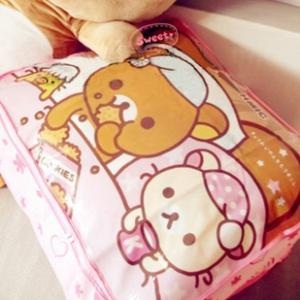 กล่องอเนกประสงค์ ลายริลัคคุมะ Rilakkuma เหมาะสำหรับใส่ผ้านวม เสื้อผ้า มี2สี ชมพู และ เหลือง